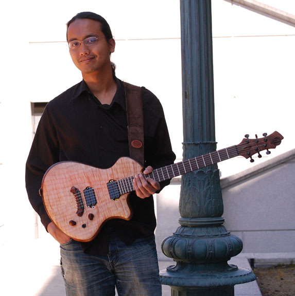 Fingerstyle guitarist Az Samad and his WJJG Proteus